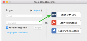 Login with SSO Zoom