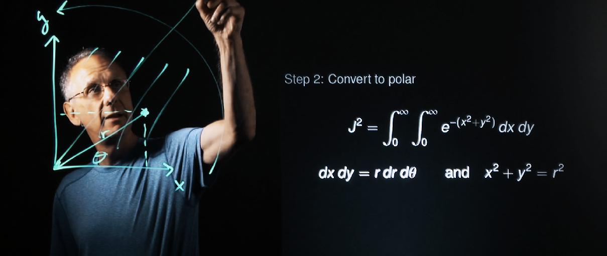 Screenshot: Ed Scheinerman annotates on a Lightboard