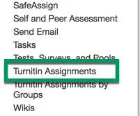 In Course Tools, click on Turnitin Assignments