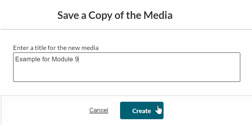 Naming and Saving a copy of video